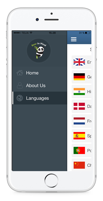 Reminder app - to do list with languages in English, Japanese, Danish, Chinese, French, Portuguese, Spanish, German and Hindi