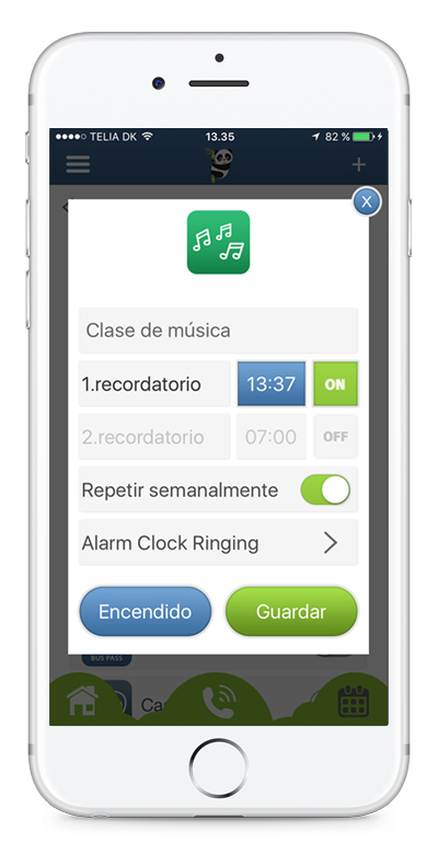 Set the alarms in the app to notify you when you need to remember your medicine or other important tasks