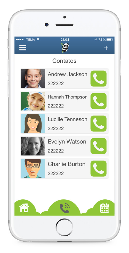 Quick and easy calls in app with simple design - tech startup